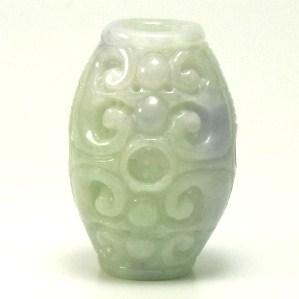 画像1: 翡翠飾り物(筒)