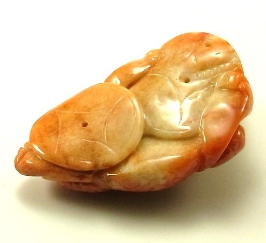 画像2: 翡翠握り石(置物)(三本足カエル)