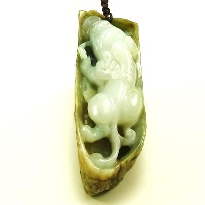 画像1: 翡翠手把件(握り石)