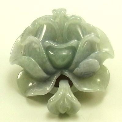 画像1: 翡翠ペンダントトップ(花)